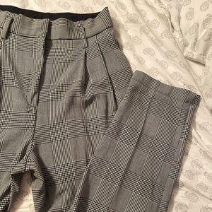 H&M High Waist Plaid Pants - Size 8
